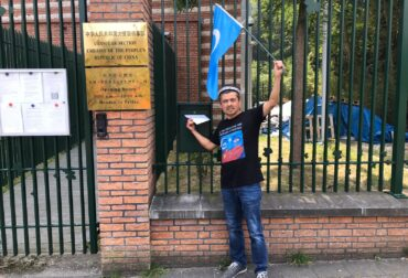 in front of China embassy